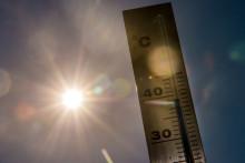 Un thermomètre frôlant les 40 degrés (illustration)