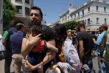 Un Tunisien et sa fille lors des attentats de Tunis le 27 juin 2019