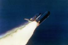 Explosion du vaisseau Challenger quelques secondes après son décollage.