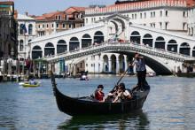 Le pont du Rialto à Venise, le 9 juin 2019