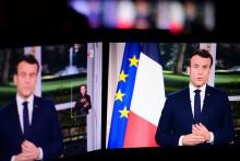 Emmanuel Macron, lors de ses vœux le 31 décembre 2019