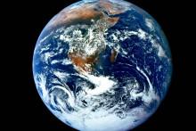 La Terre vue de l'espace (illustration).