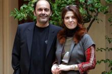 Agnès Jaoui et Jean-Pierre Bacri en 2004 à Rome