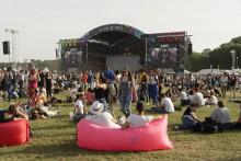 Le festival Solidays, en juin 2018 à l'hippodrome de Longchamp à Paris.