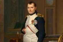 Une peinture de Jacques-Louis David représentant l'empereur Napoléon