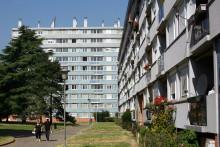 Des immeubles dans la ville de Trappes (Yvelines).
