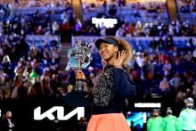 La Japonaise Naomi Osaka le samedi 20 février après sa victoire sur l'Américaine Jennifer Brady lors de l'Open d'Australie 2021.