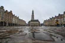 La ville d'Arras vide lors du confinement en mars 2021
