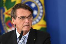 Le président brésilien Jair Bolsonaro au Palais Planalto à Brasilia, le 10 mars 2021.