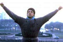 Sylvester Stallone dans le rôle de Rocky en 1976