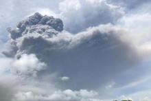 Image de l'éruption du volcan La Soufriere sur l'île de Saint-Vincent le 9 avril 2021.