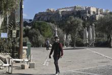 Athènes, en février 2021