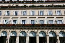 Vue de l'hôtel Meurice, à Paris