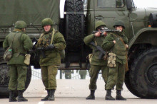 Des soldats russes (illustrations).