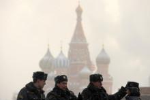Des officiers de police russe, à Moscou (illustration)