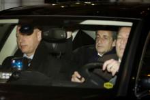 Nicolas Sarkozy après sa mise en examen dans l'affaire Bygmalion, le 16 février 2016