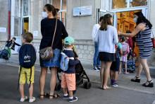 Des enfants à Montpellier le 1er septembre 2021
