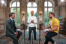 Emmanuel Macron face à McFly et Carlito.