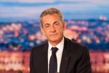 Photo de Nicolas Sarkozy prise sur le plateau du JT de TF1, le 3 mars 2021, à Boulogne-Billancourt. (Illustration)