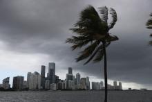 La ville de Miami (Floride) pendant la tempête Isaias le 2 août 2020