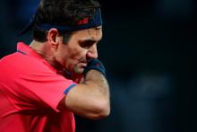 Roger Federer à Roland-Garros en juin 2021