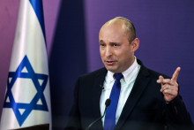 Naftali Bennett s'adressant au parlement israélien le 6 juin 2021.