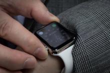 Une montre connectée d'Apple (illustration)