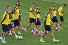 Des joueurs ukrainiens à l'entraînement