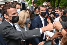Emmanuel Macron a participé à un bain de foule.