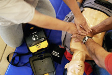 Une formation aux premiers secours en 2005 (illustration)
