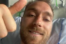 Le joueur de 29 ans a partagé un cliché depuis son lit d'hôpital sur Instagram mardi 15 juin.