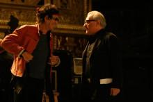 """Keith Richards et Martin Scorsese sur le tournage de """"Shine a Light"""""""