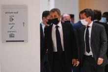 Nicolas Sarkozy le 15 juin 2021 au Tribunal de Grande Instance de Paris pour son procès dans l'affaire Bygmalion.