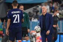 Lucas Hernandez et Didier Deschamps à Munich le 15 juin 2021