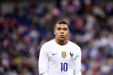 Kylian Mbappé avec les Bleus au Stade de France le 8 juin 2021