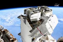 Thomas Pesquet lors de sa sortie dans l'espace le 16 juin 2021