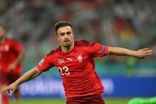 Le Suisse Xherdan Shaqiri à Bakou le 20 juin 2021