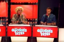 """Zize Dupanier et JeanFi Janssens dans """"Les Grosses Têtes"""""""