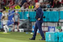 Didier Deschamps lors du match entre le Portugal et la France à la Puskas Arena de Budapest le 23 juin 2021. (Illustration)