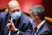 Le ministre de l'Intérieur Gérald Darmanin et le garde des Sceaux Éric Dupond-Moretti