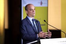 Photo de Jean-Michel Blanquer, le ministre de l'Education, prise lors du Conseil économique, social et environnemental (CESE), à Paris, le 26 mai 2021. (Illustration)