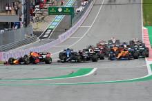 Le départ du Grand Prix de F1 de Styrie le 27 juin 2021