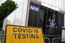 Un centre de dépistage Covid-19 au Royaume-Uni
