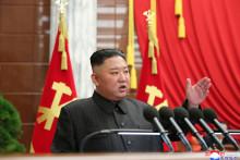 Kim Jong-un, le 29 juin 2021, lors d'un Congrès du parti, à Pyongyang.