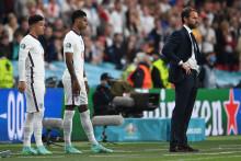 Marcus Rashford et Jadon Sancho au moment de leur entrée en jeu ce dimanche lors de la finale de l'Euro 2021 contre l'Italie