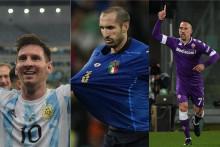 De gauche à droite : Lionel Messi, Giorgio Chiellini et Franck Ribéry