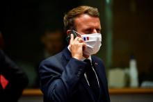 Emmanuel Macron au téléphone le 20 juillet 2020 (illustration)