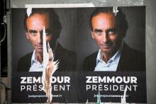 Des affiches en soutien à Eric Zemmour dans les rues de Paris