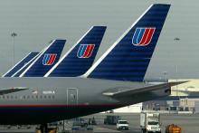 Des avions de United Airlines, le 5 décembre 2002, à San Francisco. (archives)
