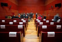 Le tribunal de Nantes, pendant le procès de l'affaire Barbot-Livet